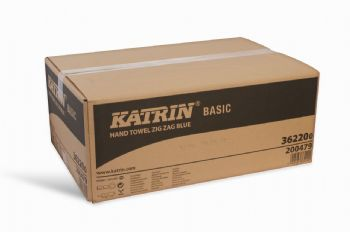 Katrin Recycled Interfold Blue Paper Towel
